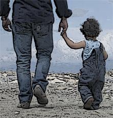 genitore con figlio